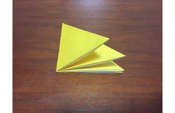 簡単折り紙|立体的な蝶々の折り方7