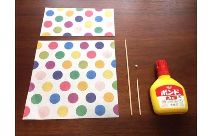 簡単折り紙「立体傘」の折り方・材料
