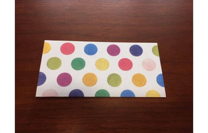 簡単折り紙「立体傘」の折り方1