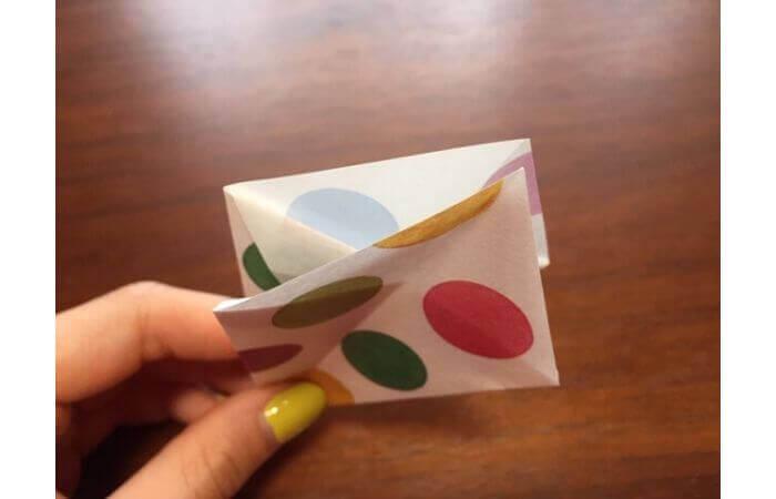 簡単折り紙「立体傘」の折り方10