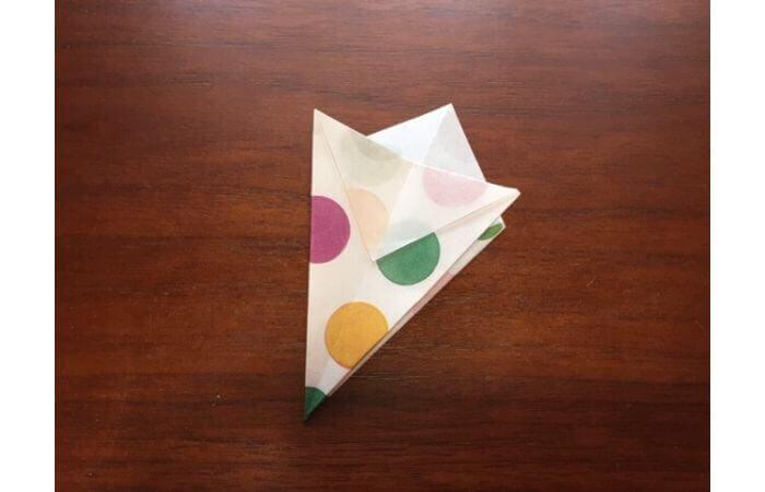簡単折り紙「立体傘」の折り方11