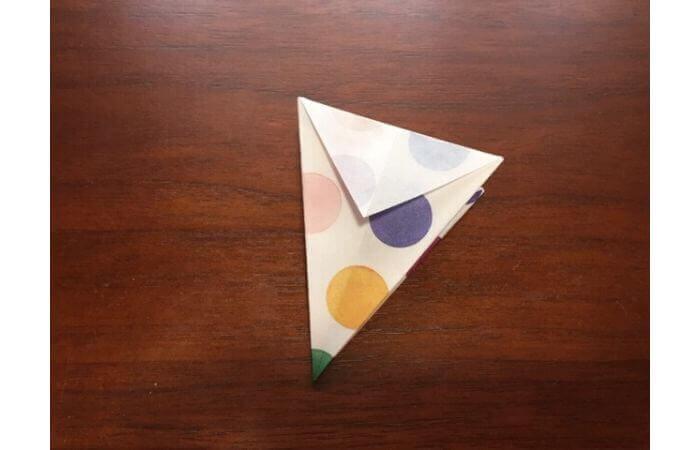 簡単折り紙「立体傘」の折り方12