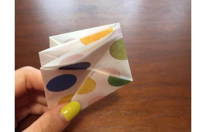 簡単折り紙「立体傘」の折り方13