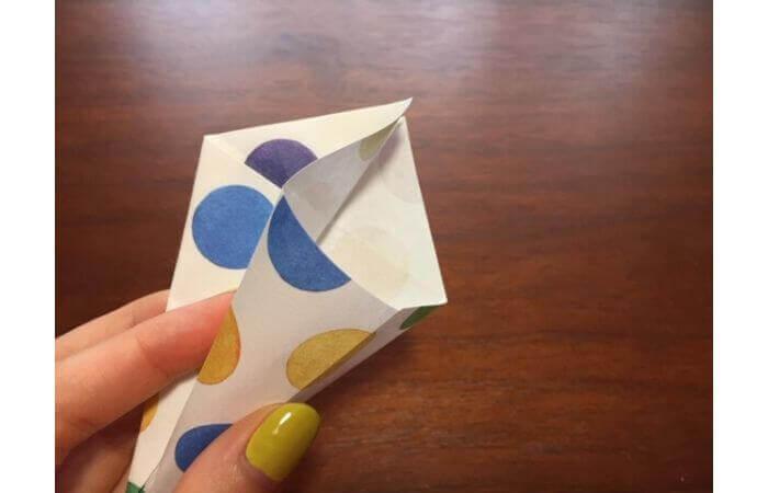 簡単折り紙「立体傘」の折り方15