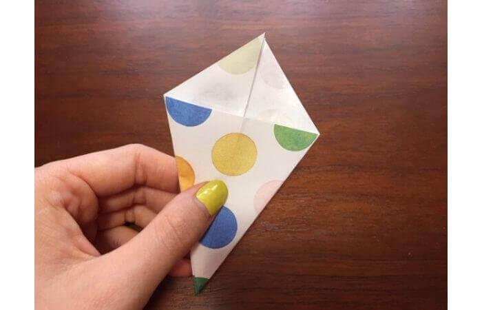 簡単折り紙「立体傘」の折り方16