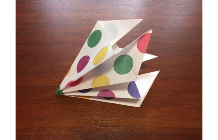 簡単折り紙「立体傘」の折り方17
