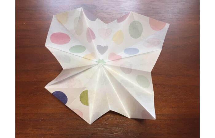 簡単折り紙「立体傘」の折り方18