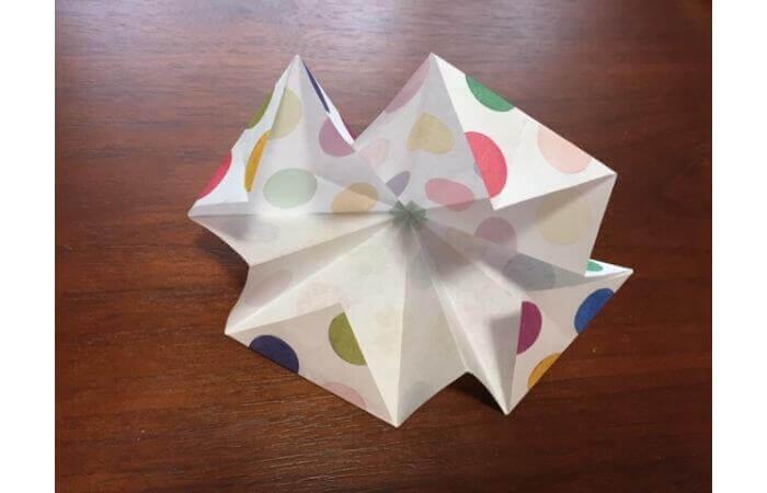 簡単折り紙「立体傘」の折り方19