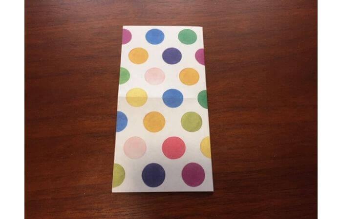 簡単折り紙「立体傘」の折り方2