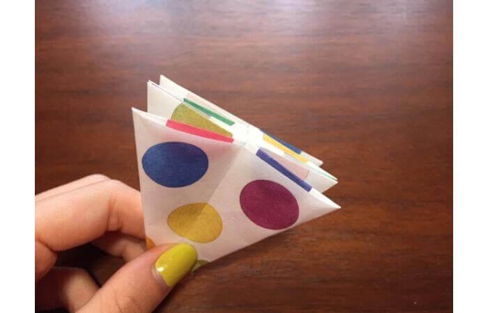 簡単折り紙「立体傘」の折り方20