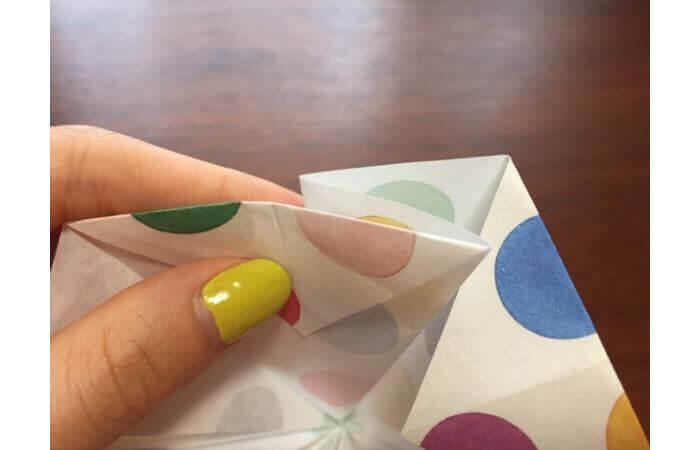 簡単折り紙「立体傘」の折り方22