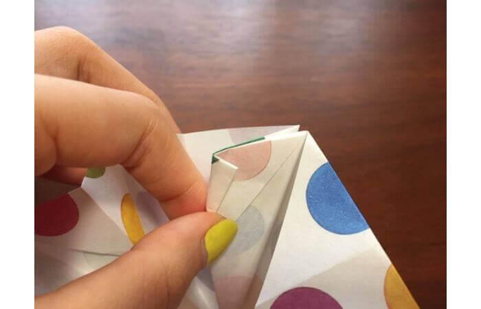 簡単折り紙「立体傘」の折り方24
