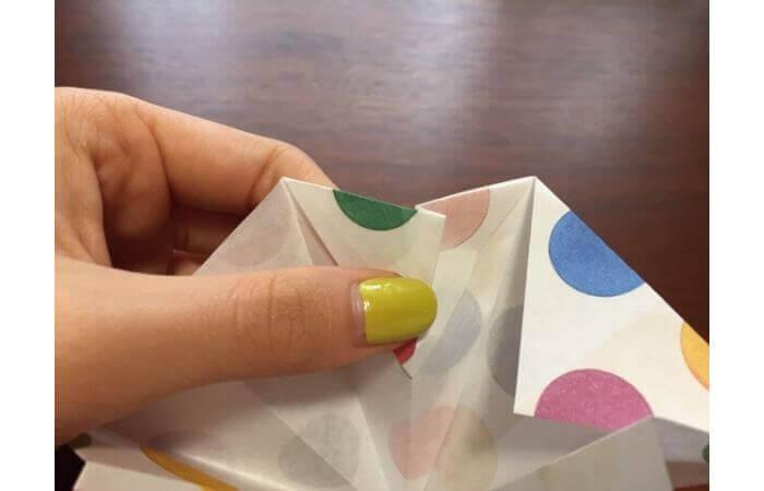 簡単折り紙「立体傘」の折り方25