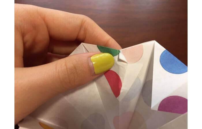 簡単折り紙「立体傘」の折り方26
