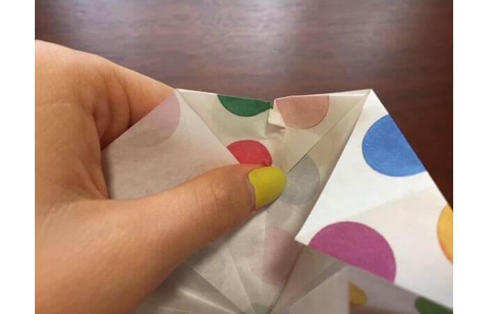 簡単折り紙「立体傘」の折り方27