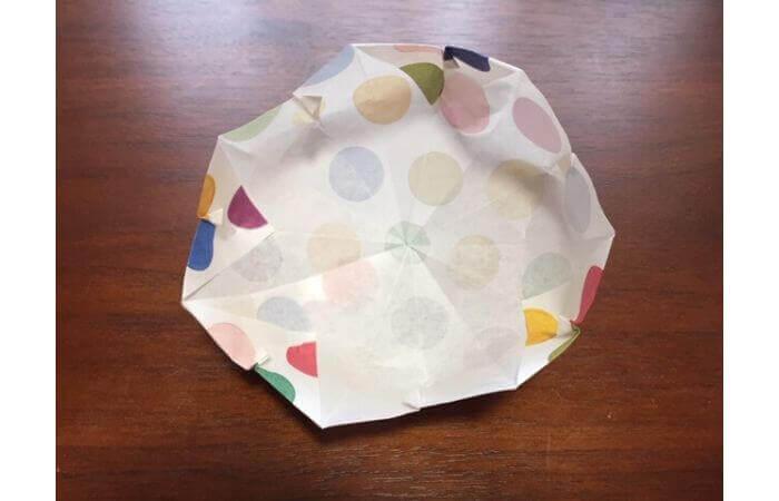 簡単折り紙「立体傘」の折り方29