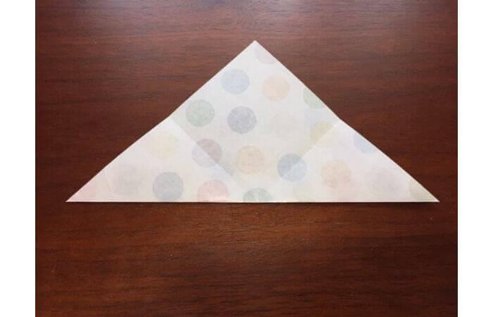 簡単折り紙「立体傘」の折り方3