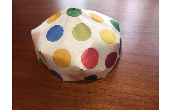 簡単折り紙「立体傘」の折り方30