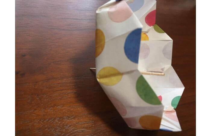 簡単折り紙「立体傘」の折り方36