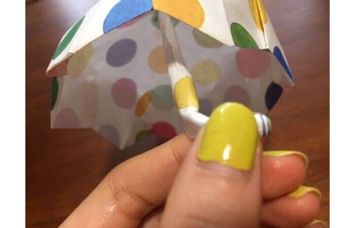 簡単折り紙「立体傘」の折り方37