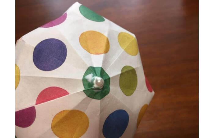 簡単折り紙「立体傘」の折り方38