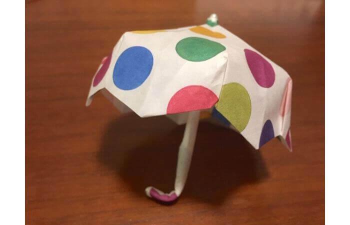 簡単折り紙「立体傘」の折り方39