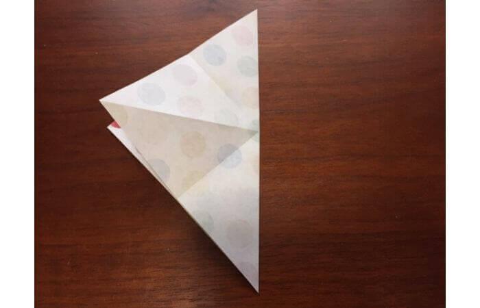 簡単折り紙「立体傘」の折り方4