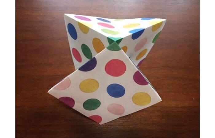 簡単折り紙「立体傘」の折り方5