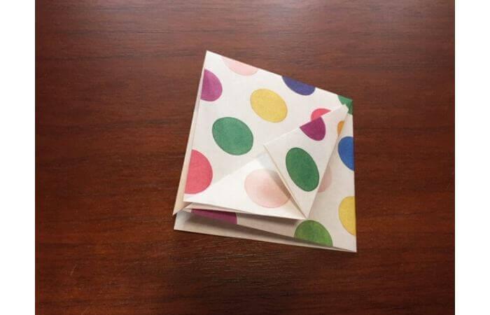 簡単折り紙「立体傘」の折り方6