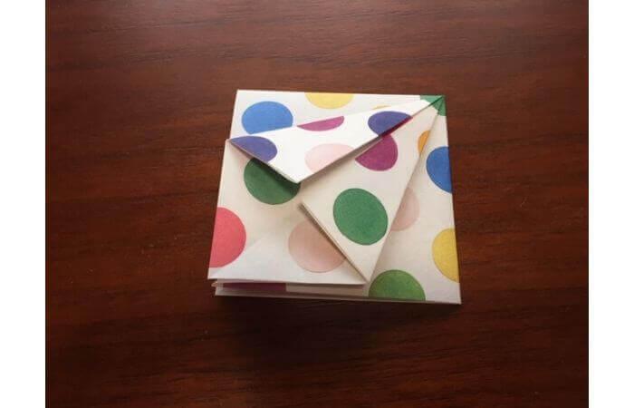 簡単折り紙「立体傘」の折り方7