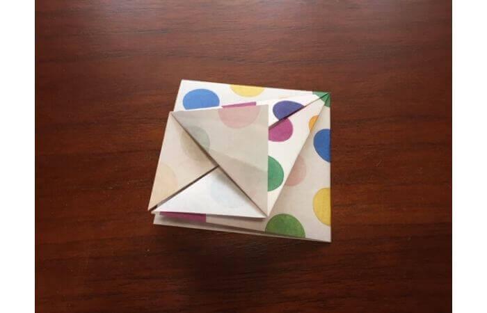 簡単折り紙「立体傘」の折り方8
