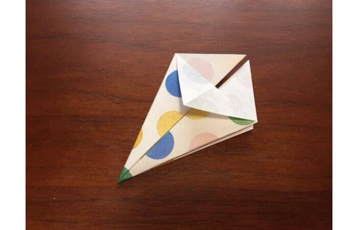 簡単折り紙「立体傘」の折り方9